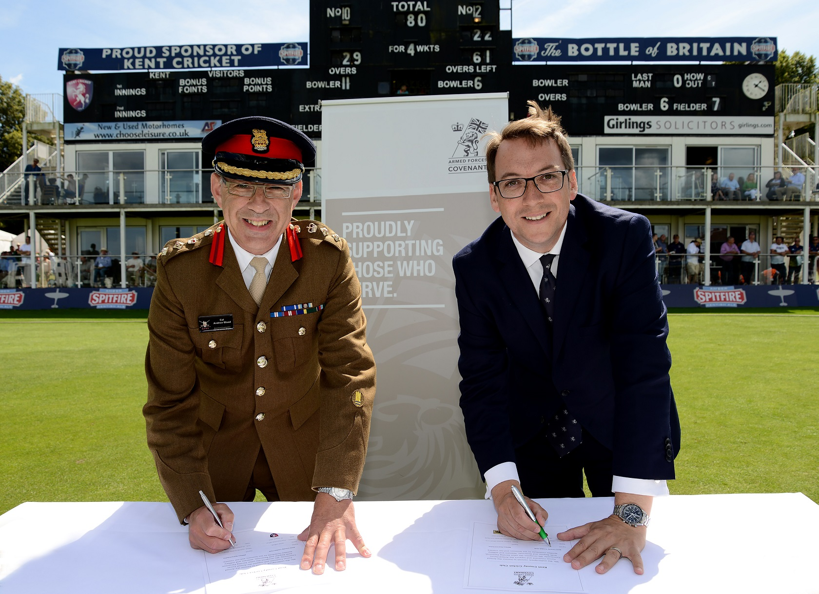 Kent County Cricket Club are the Latest Organisation to Sign the Armed Forces Covenant