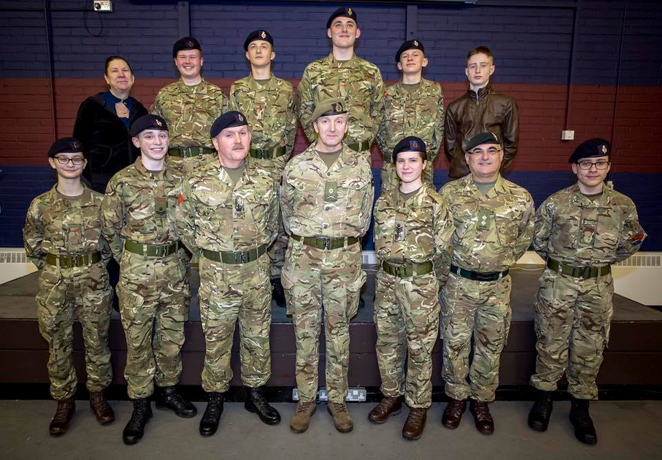 Major General Benjamin Bathurst visits Army Cadets in Windsor
