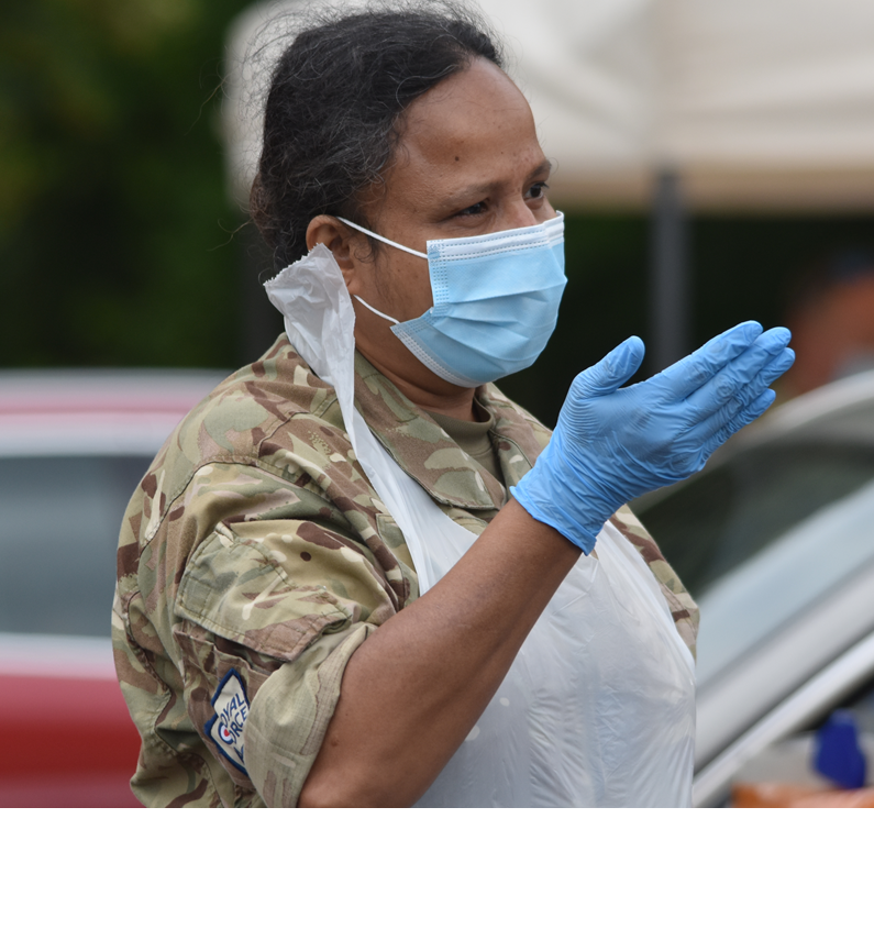 Senior Aircraftwoman Geetha Ramesh supports the UK Military's Response to COVID-19
